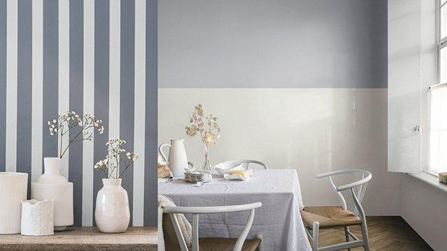 sơn tường kẻ sọc