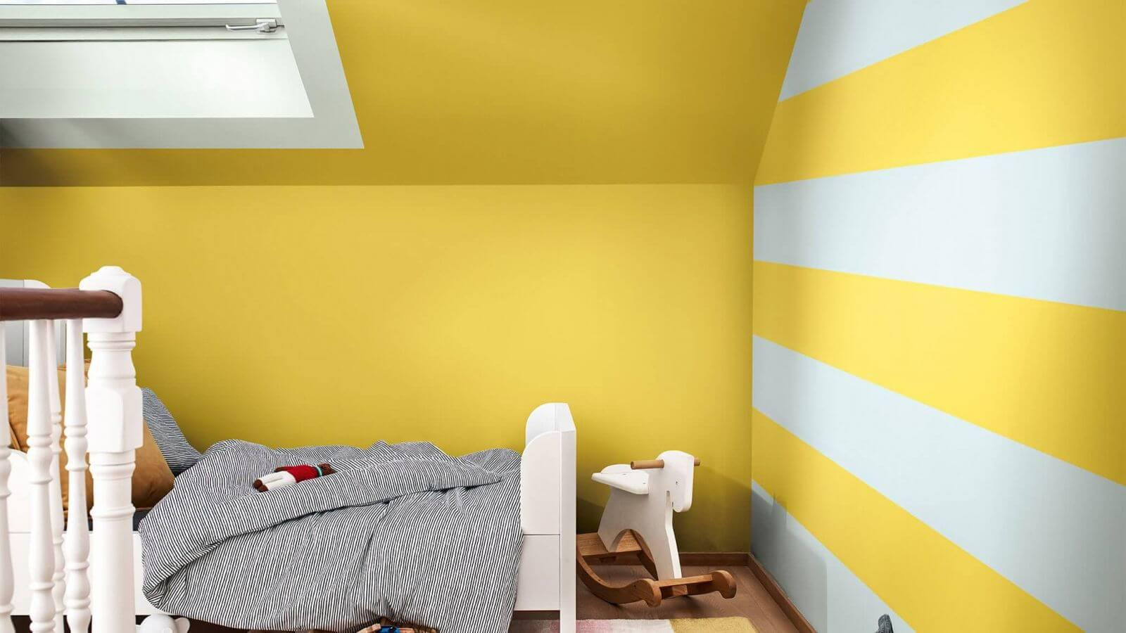 thi công sơn tường kẻ sọc