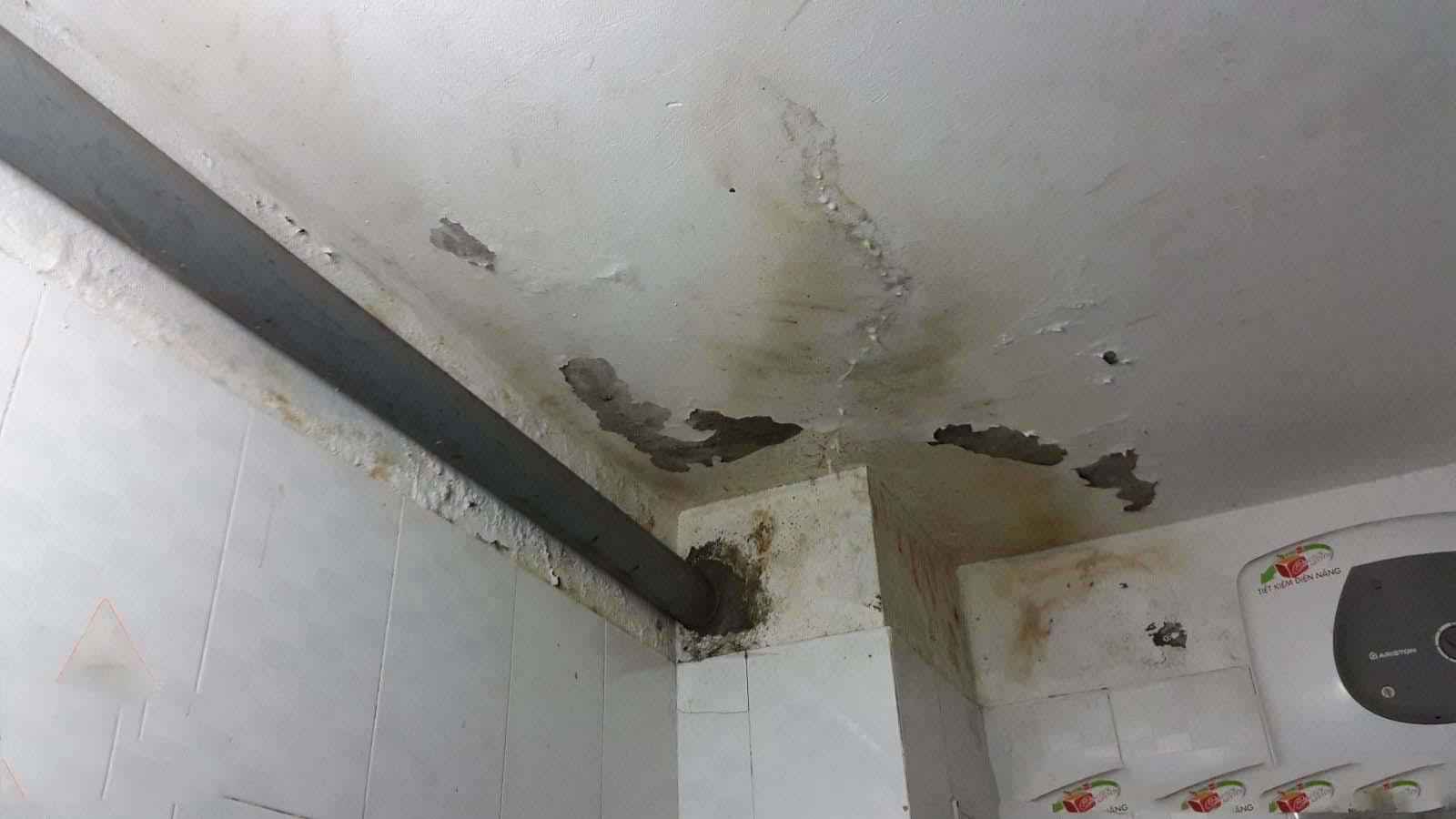 nhà vệ sinh bị thấm nước