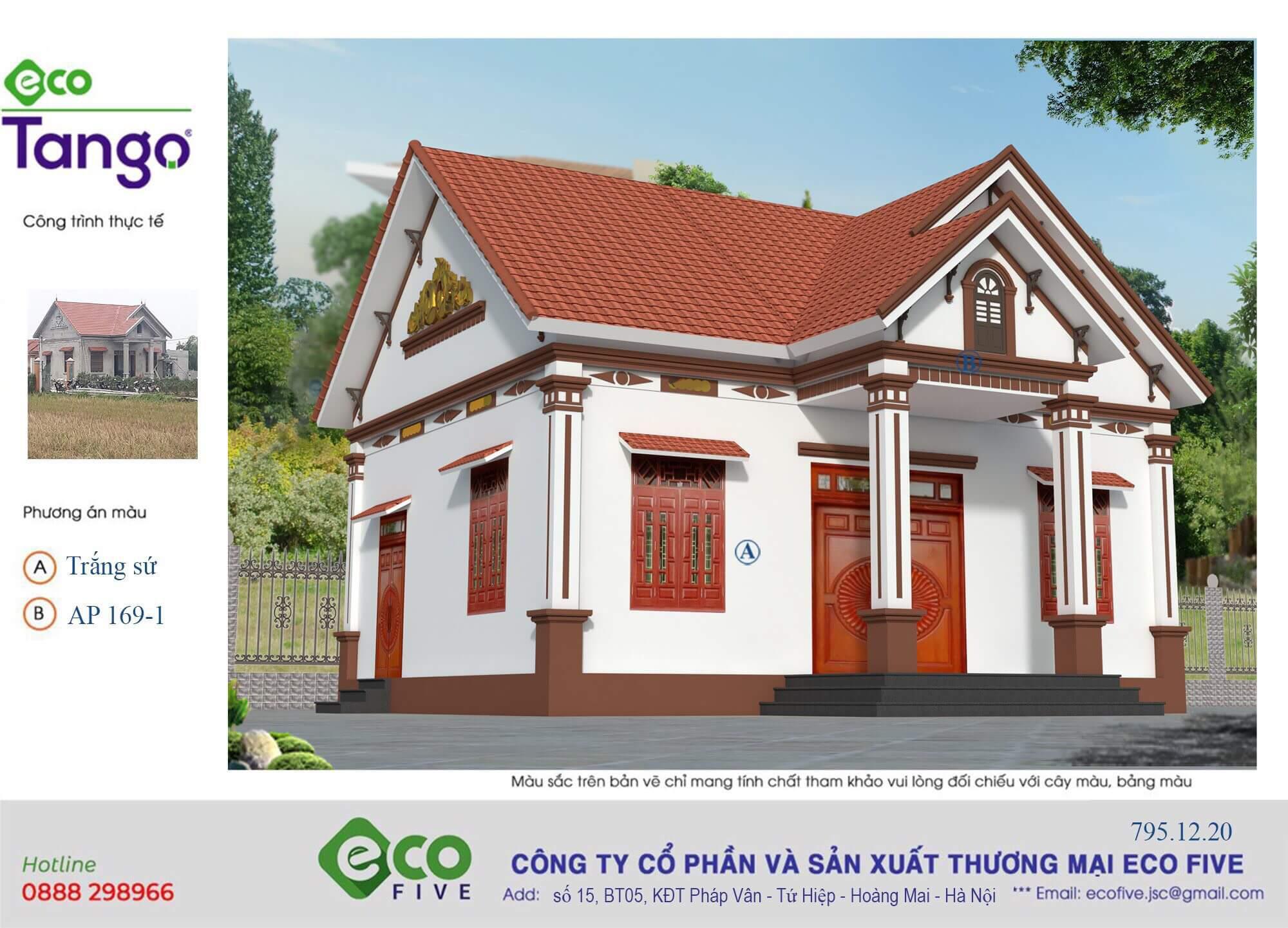 sơn nhà màu trắng sứ