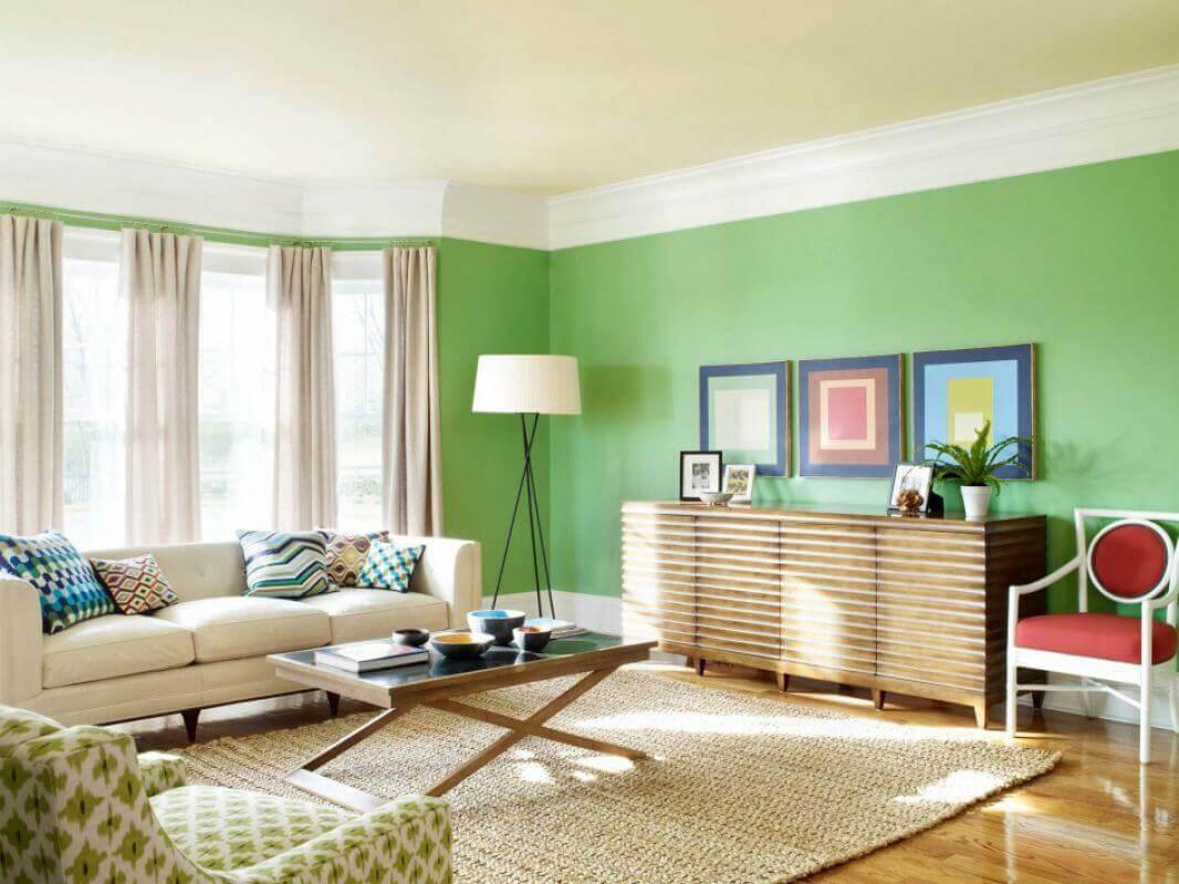 sơn nội thất màu xanh