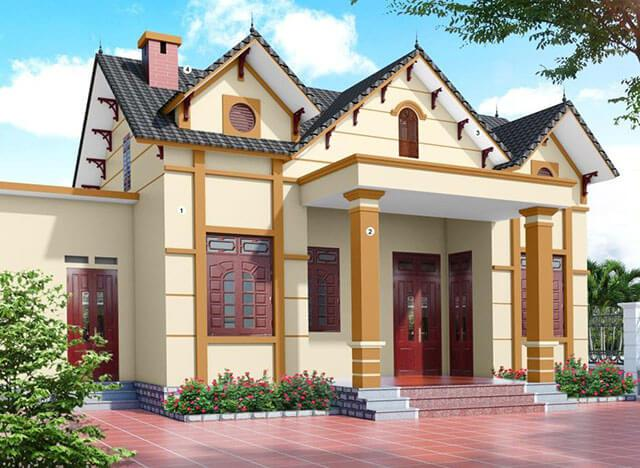 mầu sơn nhà màu vàng đẹp