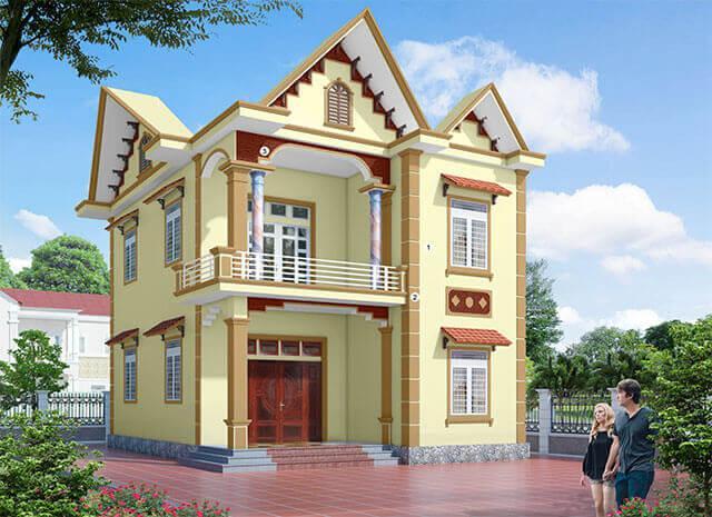 sơn nhà màu vàng kem đẹp